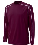 Charles River Apparel 3137 Mens Long Sleeve Wicking Tee Shirt: Maroon