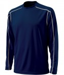 Charles River Apparel 3137 Mens Long Sleeve Wicking Tee Shirt: Navy