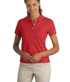 Nike Golf - Ladies Dri-FIT Pique II Polo Style 244613 Sport Red