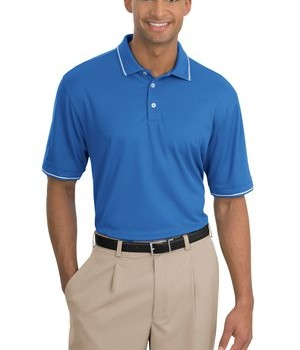 Nike Golf –  Dri-FIT Classic Tipped Polo Style 319966 Pacific Blue