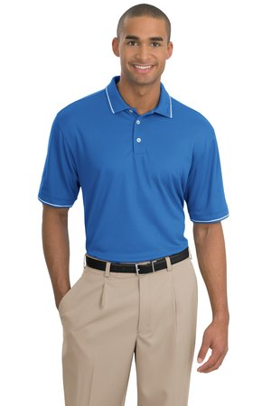 Nike Golf - Dri-FIT Classic Tipped Polo Style 319966 Pacific Blue