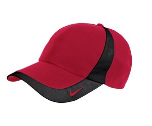Nike Golf - Dri-FIT Technical Colorblock Cap Style 354062 Varsity Red and Black