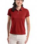Nike Golf - Ladies Dri-FIT Pebble Texture Polo Style 354064 Varsity Red