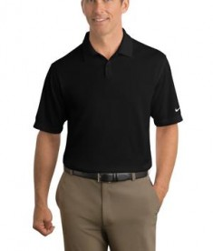 Nike Golf - Dri-FIT Pebble Texture Polo Style 373749 Black