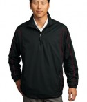 Nike Golf - 1/2-Zip Wind Jacket Style 393870 Black Varsity Red