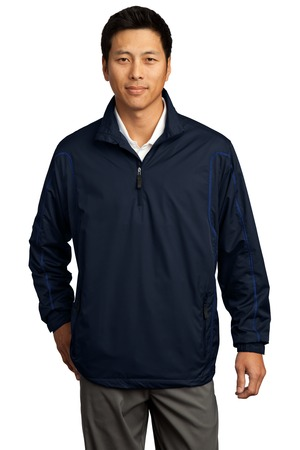 Nike Golf - 1/2-Zip Wind Jacket Style 393870 Navy Royal