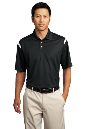 Nike Golf - Dri-FIT Shoulder Stripe Polo Style 402394 Black
