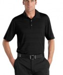 Nike Golf - Elite Series Dri-FIT Heather Fine Line Bonded Polo Style 429438 Black