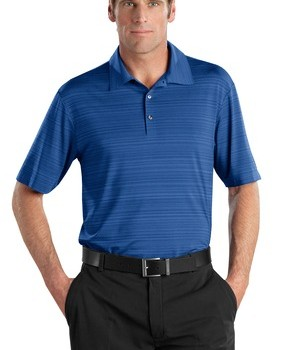 Nike Golf – Elite Series Dri-FIT Heather Fine Line Bonded Polo Style 429438 Deep Royal