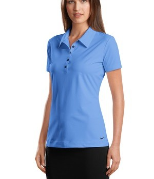 Nike Golf – Elite Series Ladies Dri-FIT Ottoman Bonded Polo Style 429461 Vibrant Blue