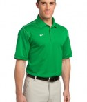 Nike Golf Dri-FIT Sport Swoosh Pique Polo Style 443119 Lucky Green Angle