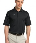 Nike Golf Dri-FIT Sport Swoosh Pique Polo Style 443119 Black