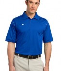 Nike Golf Dri-FIT Sport Swoosh Pique Polo Style 443119 Sapphire Blue
