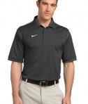 Nike Golf Dri-FIT Sport Swoosh Pique Polo Style 443119 Flint Grey