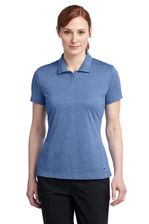 Nike Golf Ladies Dri-FIT Heather Polo Style 474455 Light Game Royal Heather