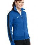 Nike Golf 483773 Ladies n98 Track Jacket Varsity Royal Black Angle