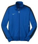 Nike Golf 483773 Ladies n98 Track Jacket Varsity Royal Black Flat Front