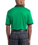 Nike Golf Dri-FIT Sport Colorblock Polo Style 527806 Lucky Green White Black Back
