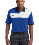Nike Golf Dri-FIT Sport Colorblock Polo Style 527806 Royal White Black