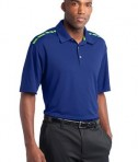 Nike Golf Dri-FIT Graphic Polo Style 527807 Rush Blue Mean Green Angle