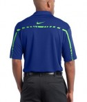 Nike Golf Dri-FIT Graphic Polo Style 527807 Rush Blue Mean Green Back