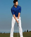Nike Golf Dri-FIT Graphic Polo Style 527807 Rush Blue Mean Green Golfing