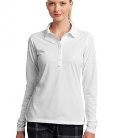Nike Golf Ladies Long Sleeve Dri-FIT Stretch Tech Polo Style 545322 White