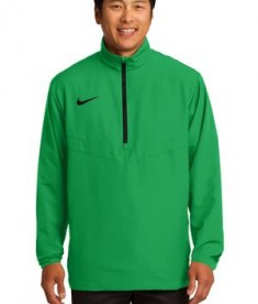 Nike Golf 1/2-Zip Wind Shirt Style 578675 Lucky Green Black