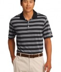 Nike Golf Dri-FIT Tech Stripe Polo Style 578677 Black