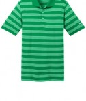 Nike Golf Dri-FIT Tech Stripe Polo Style 578677 Lucky Green Flat