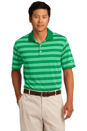 Nike Golf Dri-FIT Tech Stripe Polo Style 578677 Lucky Green
