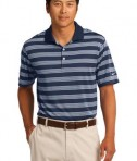 Nike Golf Dri-FIT Tech Stripe Polo Style 578677 Midnight Navy