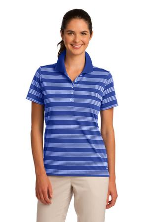 Nike Golf Ladies Dri-FIT Tech Stripe Polo Style 578678 Game Royal