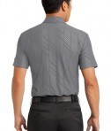 Nike Golf Dri-FIT Embossed Polo Style 632412 Dark Grey Back