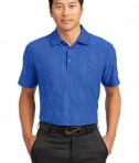 Nike Golf Dri-FIT Embossed Polo Style 632412 Storm Blue