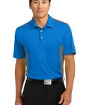 Nike Golf Dri-FIT Engineered Mesh Polo Style 632418 Aero Blue Dark Grey