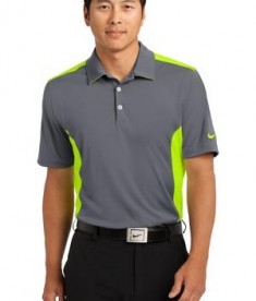 Nike Golf Dri-FIT Engineered Mesh Polo Style 632418 Dark Grey Volt