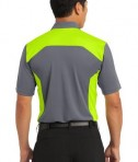 Nike Golf Dri-FIT Engineered Mesh Polo Style 632418 Dark Grey Volt Back