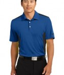 Nike Golf Dri-FIT Engineered Mesh Polo Style 632418 Gym Blue Black
