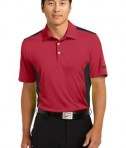 Nike Golf Dri-FIT Engineered Mesh Polo Style 632418 Red Black