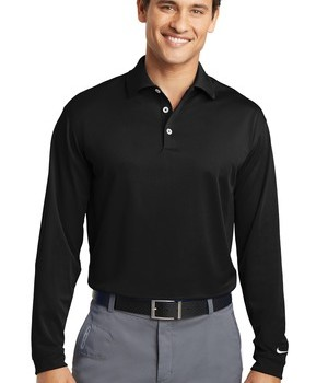 Nike Golf Tall Long Sleeve Dri-FIT Stretch Tech Polo Style 604940 1