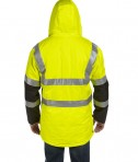 OccuNomix Insulated Cold Weather Parka Yellow Back