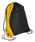 Port and Company BG80 Colorblock Cinch Pack Black/Gold