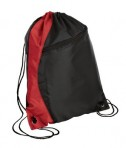 Port and Company BG80 Colorblock Cinch Pack Black/Red