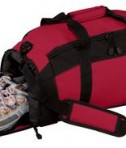 Port & Company BG970 Improved Gym Bag Red Open