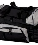 Port and Company BG99 Colorblock Sport Duffel Black