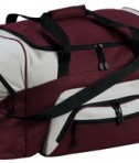 Port and Company BG99 Colorblock Sport Duffel Maroon