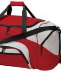 Port and Company BG99 Colorblock Sport Duffel Red Side