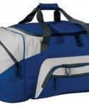 Port and Company BG99 Colorblock Sport Duffel Royal/Grey