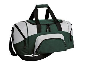 Port & Company BG990 S Improved Colorblock Small Sport Duffel Hunter Green